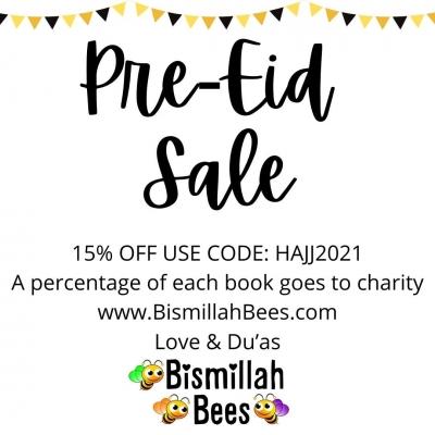 EID SALE 2021, ISLAMIC CHILDRENS BOOKS, MUSLIM CHILDRENS BOOKS, MYSALAHMAT, MY SALAH MAT, BISMILLAH BEES,